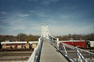 Jefferson Avenue Footbridge - Image: Springfield jeff ave foot bridge
