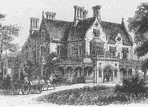 Springside (Poughkeepsie, New York) - Main house planned but never built
