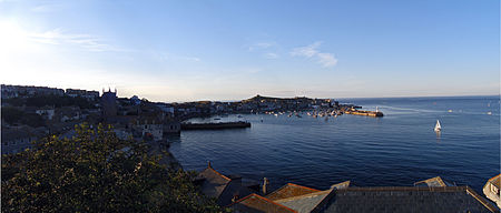 Panorama of St Ives Harbour