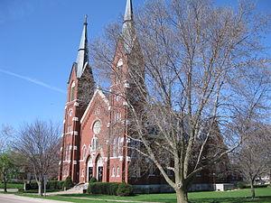 St. Boniface Church (Clinton, Iowa) - Image: St. Boniface Church Clinton Iowa April '09