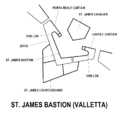 St. James Bastion Valletta map.png