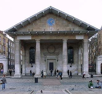 "Tuscan order - St Paul's, Covent Garden by Inigo Jones (1633), ""the handsomest barn in England"""