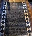 St Andrew, Kilverstone, Norfolk - Ledger slab - geograph.org.uk - 1700098.jpg
