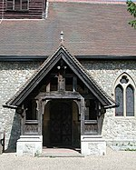 St Andrew, Little Berkhamsted, Herts - Porch