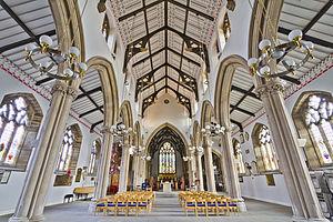 St John's Minster, Preston - Inside the church
