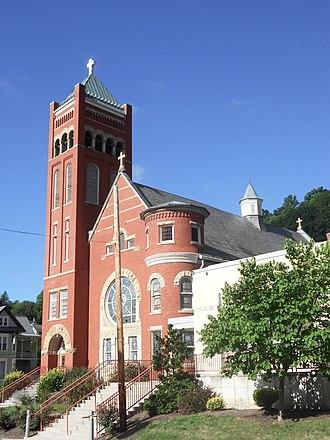 Tyrone Borough Historic District - Image: St Matthews Tyrone PA