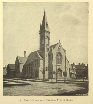 St. Paul's-Avenue Road United Church - St. Paul's as it appeared in 1891