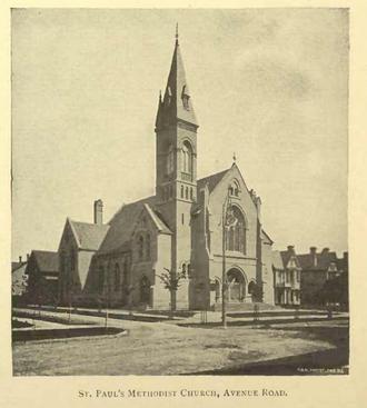 St. Paul's-Avenue Road United Church - St. Paul's as it appeared in 1891