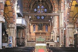 F. H. Pownall - Interior of St Peter's, London Docks.