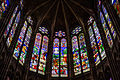 Stained glass window in the Basilica of Saint Denis, Paris, France 02.jpg