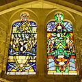 Stained glass windows in Crypt, Guildhall, City of London (2).jpg