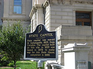 Indiana State House - Indiana Historical Marker at the current Statehouse