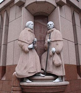 Statue Of 'Two Crutched Friars'.jpg