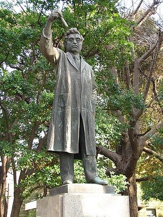 Hideyo Noguchi - Statue of Hideyo Noguchi in Ueno Park