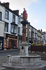 Fountain and statue of Llywelyn ap Iorwerth