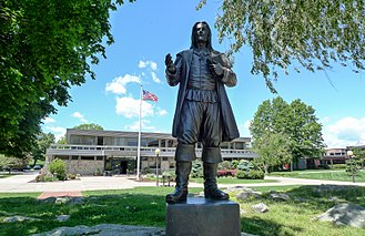 Roger Williams University - Image: Statue of Roger Williams at Roger Williams University, Bristol, Rhode Island