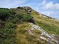 Steep climb on the coastal path to negotiate a rock outcrop - geograph.org.uk - 1411513.jpg