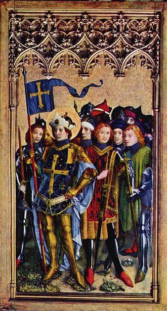 Theban Legion - Saint Gereon of the Theban Legion and soldier companions, Stefan Lochner, c. 1440