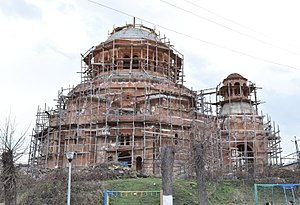 Stepanakert cathedral under construction March 2018-10.jpg