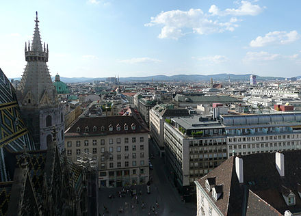 View of the city from Stephansdom Stephansdom Vienna July 2008 (27)-Stephansdom Vienna July 2008 (31).jpg