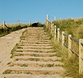 Steps over the dunes from the beach, Godrevy - geograph.org.uk - 1545268.jpg