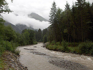 Stillach river in Germany