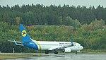 Stockholm Ukrane Int Airlines Boeing 737 UR-PSG.jpg