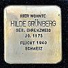 Stolperstein Gutleutstraße 85 Grünberg Hilde