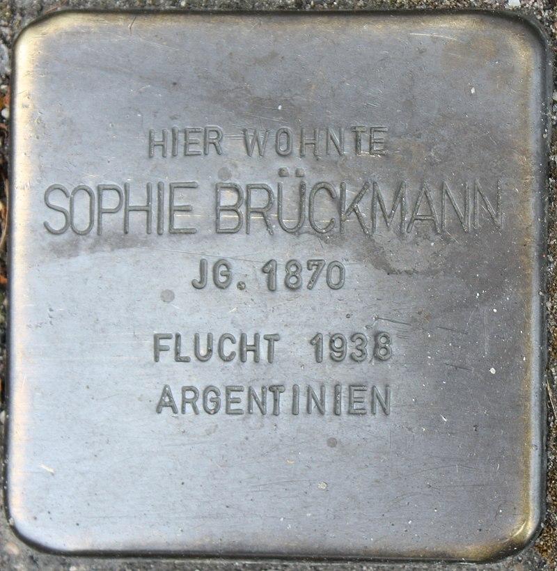 Stolperstein für Sophie Brückmann