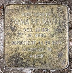 Photo of Alma  Neumann brass plaque