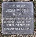 Stolperstein Dürerstr 17 (Lichf) Josef Wirmer.jpg