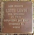 Stolperstein Horstmar Gossenstraße 1 Lotte Levin.jpg