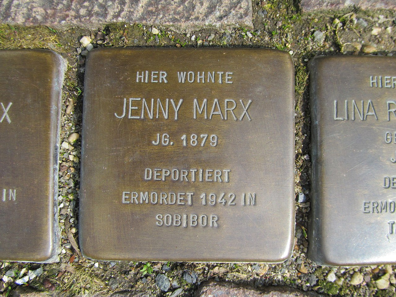 Stolperstein Jenny Marx, 1, Pferdemarkt 8, Frankenberg, Landkreis Waldeck-Frankenberg.jpg