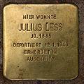 Stolperstein Kleiststr 31 (Schön) Julius Less.jpg