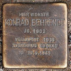 Photo of Konrad Behrendt brass plaque