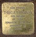 Stolperstein Lessingstr 8 (Hansa) Thekla Ehrmann.jpg