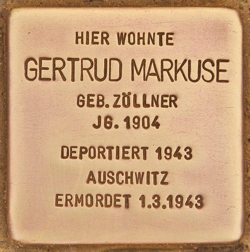Stolperstein für Gertrud Markuse (Zehdenick).jpg