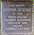 Stumbling block for Johanna Mosbach (Rheinaustraße 18)