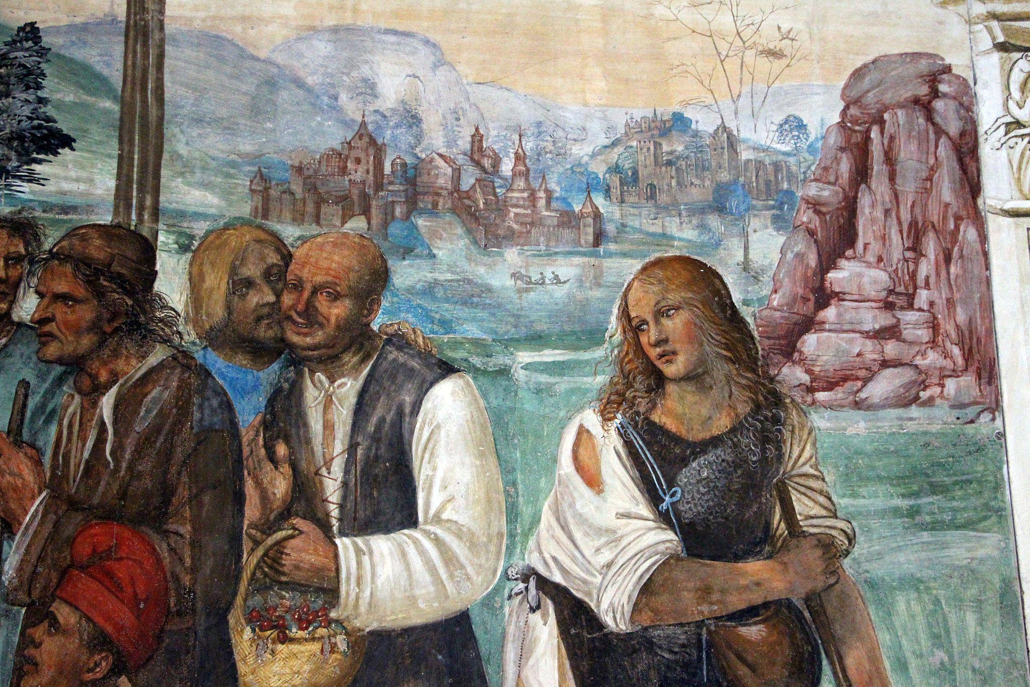 Storie di s. benedetto, 07 sodoma - Come Benedetto ammaestra nella santa dottrina i contadini che lo visitavano 04