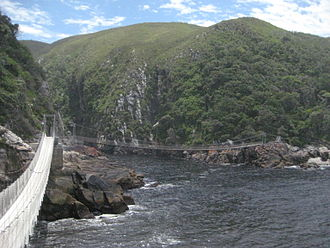 Tsitsikamma National Park - Image: Storms River Suspension Bridge 2013