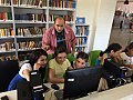Students from Dilijan are learning how to edit Wikipedia.jpg