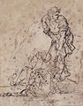 Studies for a Figure Lifted from a Grave or Pit by Cords. V e r s o- Further Study of the Same Figure MET 69.20 RECTO.jpg