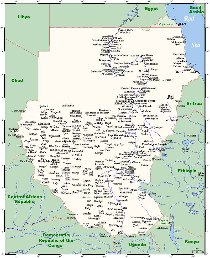 The old Sudan, before the south split away