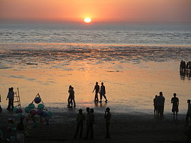 Sun Down at Tithal beach.JPG