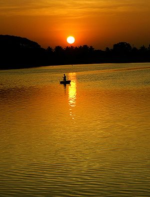 Lakes in Bangalore - Sun rise at Ulsoor Lake