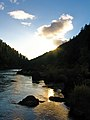 Sunset on the Rogue River, Rogue River Siskiyou National Forest (24626723034).jpg