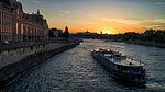 Sunset on the Seine, Paris 29 June 2015.jpg