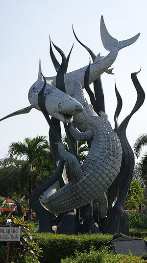 English: This s statue located in Surabaya zoo