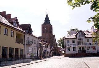 Susz Place in Warmian-Masurian Voivodeship, Poland