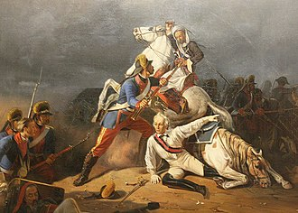 Alexander Suvorov - A wounded Suvorov saved by Grenadier Novikov at the Battle of Kinburn.